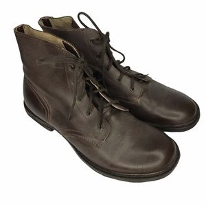 BED STU Brown Leather Boots Distressed NEW Size 12
